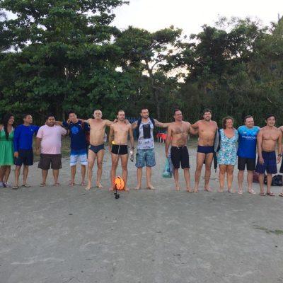 Campeões e equipe de apoio